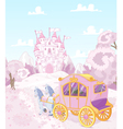 Princess Carriage Back to Kingdom vector image vector image