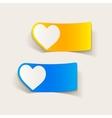 realistic design element heart vector image vector image
