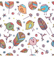 seamless floral pattern for kids vector image vector image