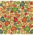 seamless hearts vector image vector image