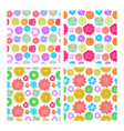 seamless patterns from various and beautiful flowe vector image