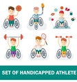 set of handicapped athlete vector image vector image
