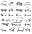Set of icons - transportation symbols vector image vector image