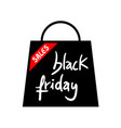 shop bag black friday icon vector image