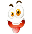 Silly face on white vector image