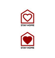 stay at home with a symbol a padlock vector image