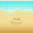 summer background with hello summer text vector image vector image