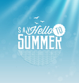 Summer Calligraphic Design in Vintage Style vector image vector image