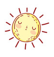 sun weather summer cartoon isolated icon design vector image vector image