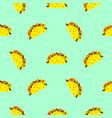 taco mexican food seamless blue pattern vector image vector image