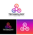 technology logo design template vector image