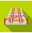 Train barrier icon flat style vector image vector image