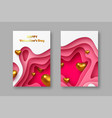 valentines day holiday posters or banners vector image vector image