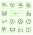 video icons vector image vector image