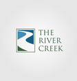 vintage river creek logo designs vector image vector image