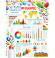 vitamins and health supplements infographics vector image