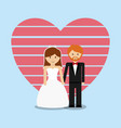 wedding couple lovely invitation vector image vector image