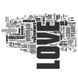 what s love got to do with it text word cloud vector image vector image