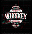 Whiskey retro logo template vintage glitch