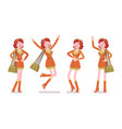 young woman positive emotions vector image vector image
