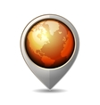 Map Pointer with Earth Globe Icon vector image