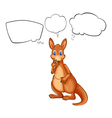 A kangaroo from Australia thinking vector image vector image