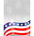 abstract american flag symbols background card vector image vector image