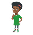african-american little girl giving thumb up vector image
