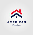 american flag house premium house mortgage logo vector image vector image