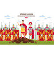 ancient rome legion banner vector image