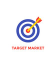 arrow in center of target icon target market vector image vector image