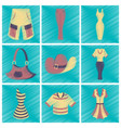 assembly flat shading style icons clothes vector image vector image