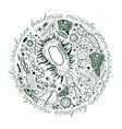 bacteria hand-drawn image vector image vector image