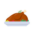 baked chicken traditional holiday dish vector image vector image