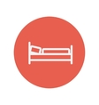 Bed thin line icon vector image vector image