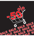 Big sale 50 percentage discount vector image vector image