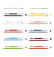 big set of colored engineering and office pencils vector image