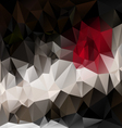 black red polygonal triangular pattern background vector image