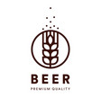 brewery emblem craft beer logo premium vector image