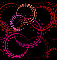 bright curls and circles of red shades on a black vector image vector image