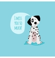 Cartoon happy dalmatian dog card template vector image vector image