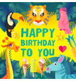 children birthday design template exotic jungle vector image