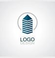 circle building cityscape logo vector image vector image