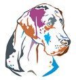 colorful decorative portrait of great dane vector image vector image