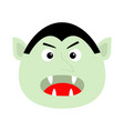 count dracula head face cute cartoon kawaii vector image vector image