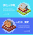 countryside house architecture posters set vector image vector image