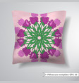 creative sofa square pillow vector image vector image