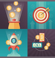 cryptocurrency - set of colorful flat design style vector image