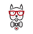 cute gentleman dog hipster tshirt design