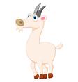 Cute goat posing cartoon vector image